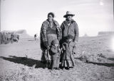 Navajo family -- Dan Phillips, wife, two children;