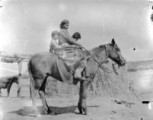 Navajo woman and children