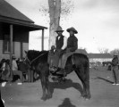 Ute teens on horseback