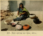 259. Hopi making pottery, Arizona;