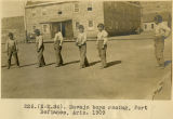 226.(N-M.34). Navajo boys racing, Fort Defiance, Arizona 1909;