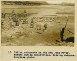10. Indian monuments on the San Juan river. Paiute Indian Reservation. Meaning unknown. Douglass,...