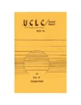 Annual Report. Utah College Library Council. 1973-1974