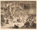"""The Dance in the Inn,"" plate no. 49 from the folio ""Adriaen van Ostade"""