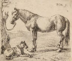 """The Horse and the Dog,"" plate no.4 from ""The Set of Horses"""