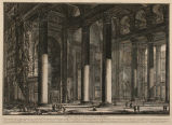 """The Pantheon. Interior of the Portico,"" from ""Vedute di Roma"""