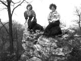 Life in the West-Two Women on Rocks