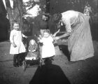 Life in the West - Women, Children, and Doll Stroller