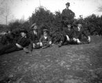Life in the West-Group of Men on Hillside