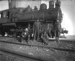 Railroads - Workers in front of Locomotive 20