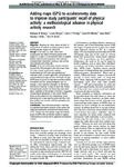 Adding maps (GPS) to accelerometry data to improve study participants recall of physical activity:...