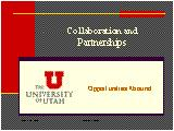 Collaboration and partnerships: opportunities abound