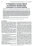 A triangulation-invariant method for anisotropic geodesic map computation on surface meshes