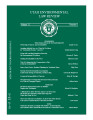 Utah Environmental Law Review Volume 31 No. 1