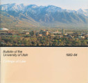 Bulletin of the University of Utah School of Law 1983-1984 Vol 1 No 9