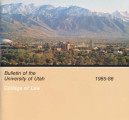 Bulletin of the University of Utah School of Law 1985-1986 Vol 3 No 8