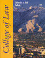 Bulletin of the University of Utah School of Law 1999 Vol 17 No 5