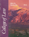Bulletin of the University of Utah School of Law 1995-1996 Vol 13 No 5
