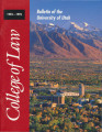 Bulletin of the University of Utah School of Law 1993-1995 Vol 12 No 4