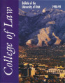 Bulletin of the University of Utah School of Law 1998-1999 Vol 16 No 4