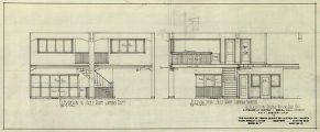 Alterations for Hyland Motor Car Co., elevation in sales room, section thru sales room