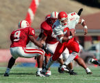 (2) Juan Johnson carries in a win over Stanford, 17-10