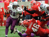 (46) Chris Godfrey, (44) Richard Seals in Ute win over TCU, 21-7