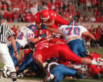 (6) Chris Fuamatu-Ma'afala dives in winning effort over Kansas, 45-42