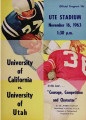 California vs. Utah, November 16, 1963