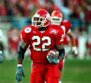 (22) Mike Anderson runs for a touchdown at the Las Vegas Bowl in Dec. of 1999.