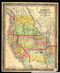 New map of the state of California, the territories of Oregon, Washington, Utah & New Mexico.