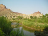 San Rafael River (Utah) July morning with crickets and birds
