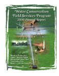 Water Conservation Field Services Program : 2000 annual report